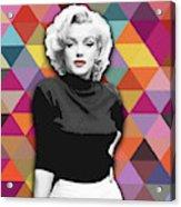 Marylin Monroe Diamonds Acrylic Print