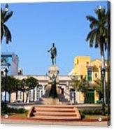 Matanzas, Cuba - Main Square. Palm Acrylic Print