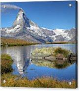 Matterhorn From Lake Stelliesee 07, Switzerland Acrylic Print