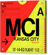 Mci Kansas City Luggage Tag I Acrylic Print