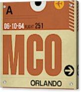 Mco Orlando Luggage Tag I Acrylic Print