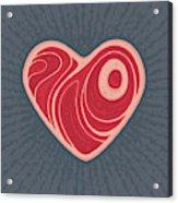 Meat Heart Acrylic Print