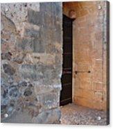 Medieval Castle Entrance In Algarve Acrylic Print