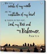 Meditation Of My Heart Acrylic Print