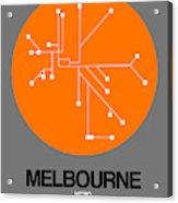 Melbourne Orange Subway Map Acrylic Print