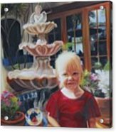 Melody By The Fountain Acrylic Print
