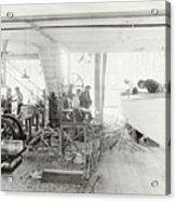 Men Building Ships Acrylic Print