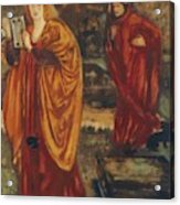 Merlin And Nimue 1861 Acrylic Print