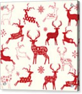 Merry Christmas Reindeer,reindeer Acrylic Print