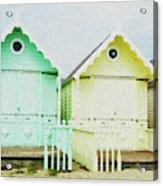 Mersea Island Beach Hut Oil Painting Look 5 Acrylic Print
