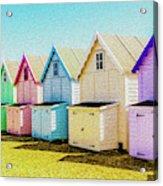 Mersea Island Beach Hut Oil Painting Look 9 Acrylic Print