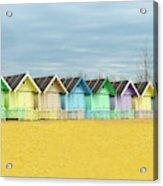 Mersea Island Beach Huts, Image 1 Acrylic Print
