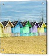 Mersea Island Beach Huts, Image 3 Acrylic Print