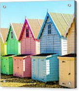Mersea Island Beach Huts, Image 7 Acrylic Print