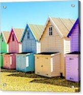 Mersea Island Beach Huts, Image 9 Acrylic Print