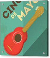 Mexican Guitar. Posters In Retro Style Acrylic Print