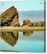 Meyers Beach Reflections - Oregon  Acrylic Print