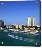Miami Beach Marina Acrylic Print