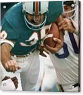 Miami Dolphins Larry Csonka, Super Bowl Viii Sports Illustrated Cover Acrylic Print