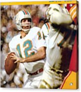 Miami Dolphins Qb Bob Griese, Super Bowl Vii Sports Illustrated Cover Acrylic Print