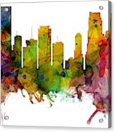 Miami Florida Skyline Panoramic Acrylic Print