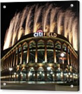 Miami Marlins V New York Mets Acrylic Print