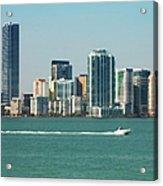 Miami Skyline - Verical Acrylic Print