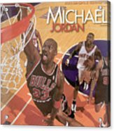 Michael Jordan A Career In Pictures Sports Illustrated Cover Acrylic Print