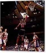Michael Jordan Action Portrait Acrylic Print