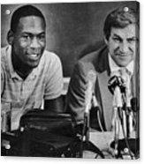 Michael Jordan And Coach Dean Smith Acrylic Print