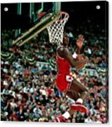 Michael Jordan Competes In The Nba All Acrylic Print