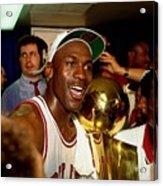 Michael Jordan Postgame Locker Room Acrylic Print