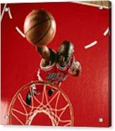 Michael Jordan Slam Dunk Acrylic Print