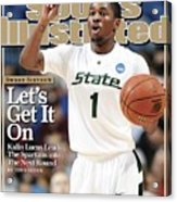 Michigan State University Kalin Lucas, 2009 Ncaa Midwest Sports Illustrated Cover Acrylic Print