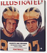 Michigan Tom Maentz And Ron Kramer Sports Illustrated Cover Acrylic Print
