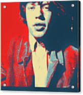 Mick Pop Art Acrylic Print