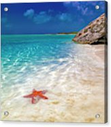 Middle Caicos Tranquility Awaits Acrylic Print