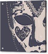 Midnight Frill Acrylic Print