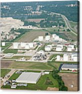 Midwest Aerial Oil Refinery Acrylic Print
