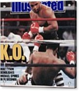 Mike Tyson, 1988 Wbcwbaibf Heavyweight Title Sports Illustrated Cover Acrylic Print