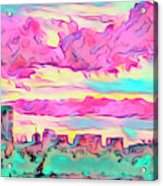 Mile High Sunset Acrylic Print