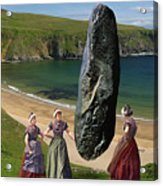 Milkmaids At The Monolith Acrylic Print