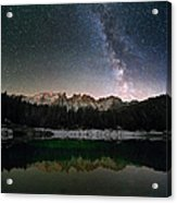 Milky Way In The Alps Acrylic Print