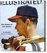 Milwaukee Braves Eddie Mathews Sports Illustrated Cover Acrylic Print