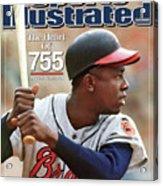 Milwaukee Braves Hank Aaron Sports Illustrated Cover Acrylic Print