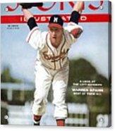 Milwaukee Braves Warren Spahn... Sports Illustrated Cover Acrylic Print
