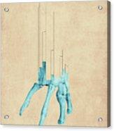 Minerva P - Abstract Geometric Bone Art Acrylic Print