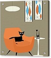 Mini Gravel Art Orange Chair Acrylic Print