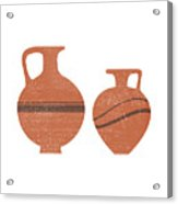 Minimal Abstract Greek Vase 20 - Oinochoe - Terracotta Series - Modern, Contemporary Print - Sienna Acrylic Print