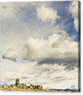 Minimal Mountaintop Meadow Acrylic Print